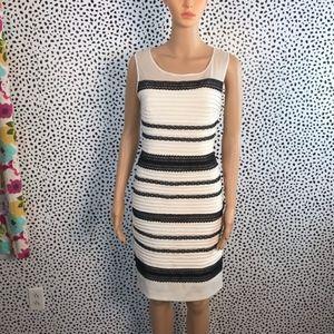 Jessica Simpson black & white lace dress size 10